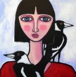 Gitl With magpies